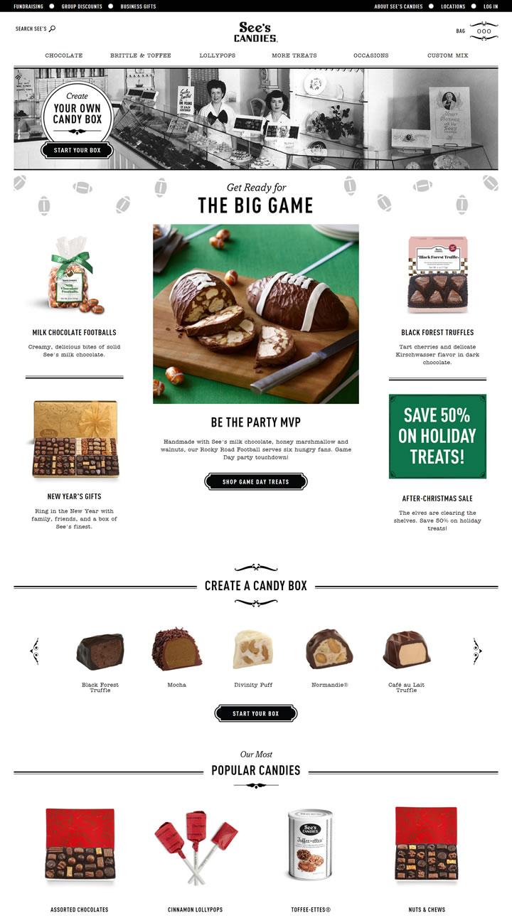 喜诗官方在线巧克力店:See's Candies