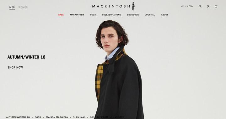 Mackintosh官网:英国外套制造商
