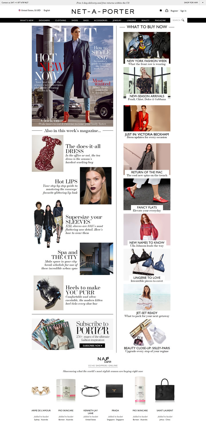 Net-A-Porter美国官网:全球时尚奢侈品名站