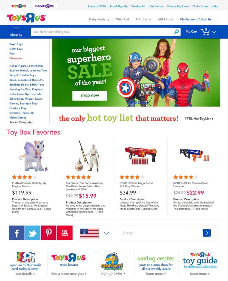 """玩具反斗城美国官网:Toys""""R""""Us"""