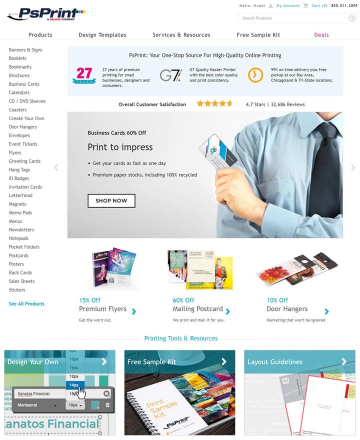 美国在线印刷公司:PsPrint