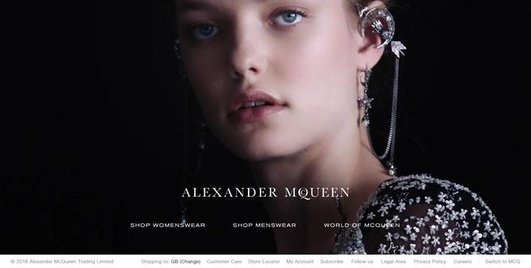 英国时尚教父创建的时装品牌:Alexander McQueen(亚历山大·麦昆)