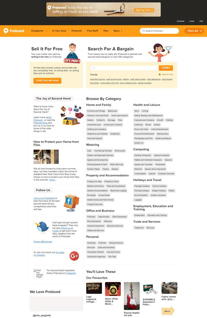 英国二手物品交易网站:Preloved