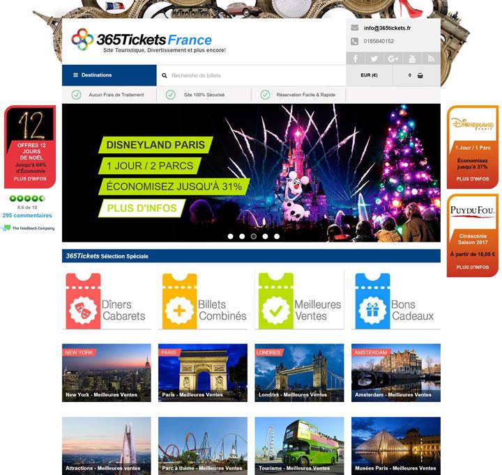 365Tickets法国:表演门票,主题公园,观光旅游