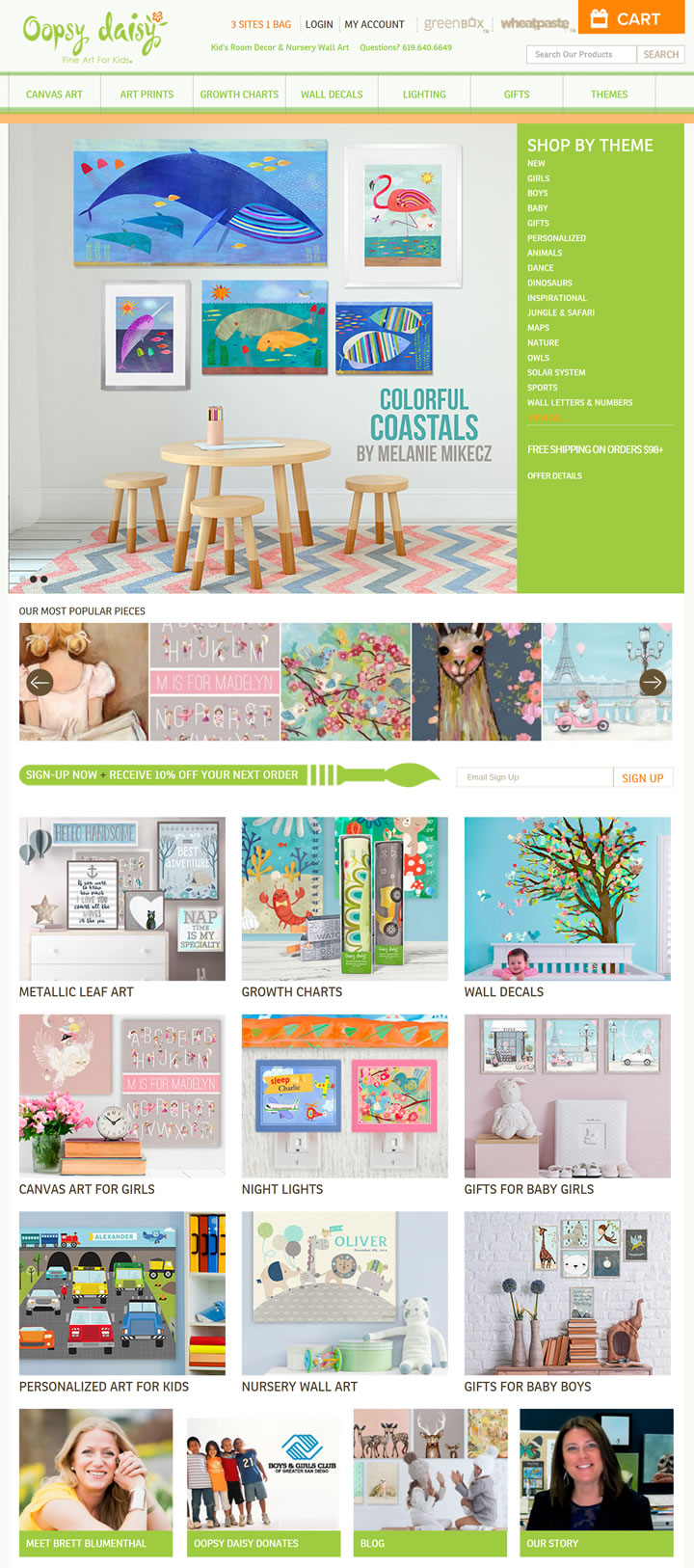 儿童和婴儿艺术墙及房间装饰:Oopsy Daisy