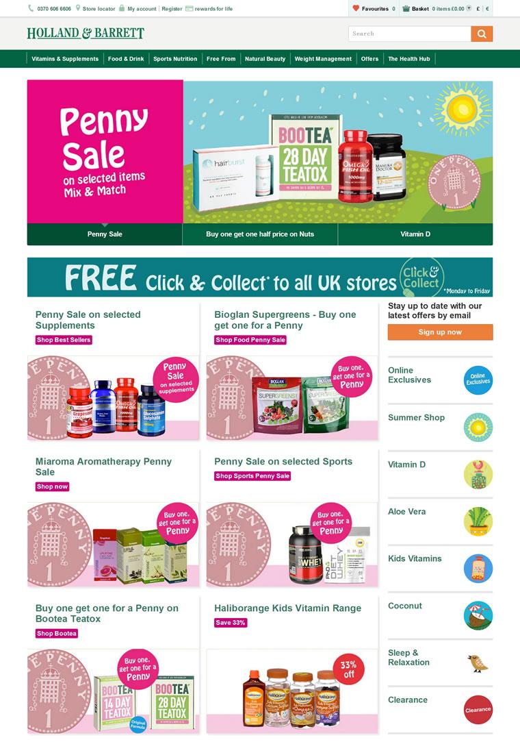 英国百年闻名的优质健康产品连锁店:Holland & Barrett