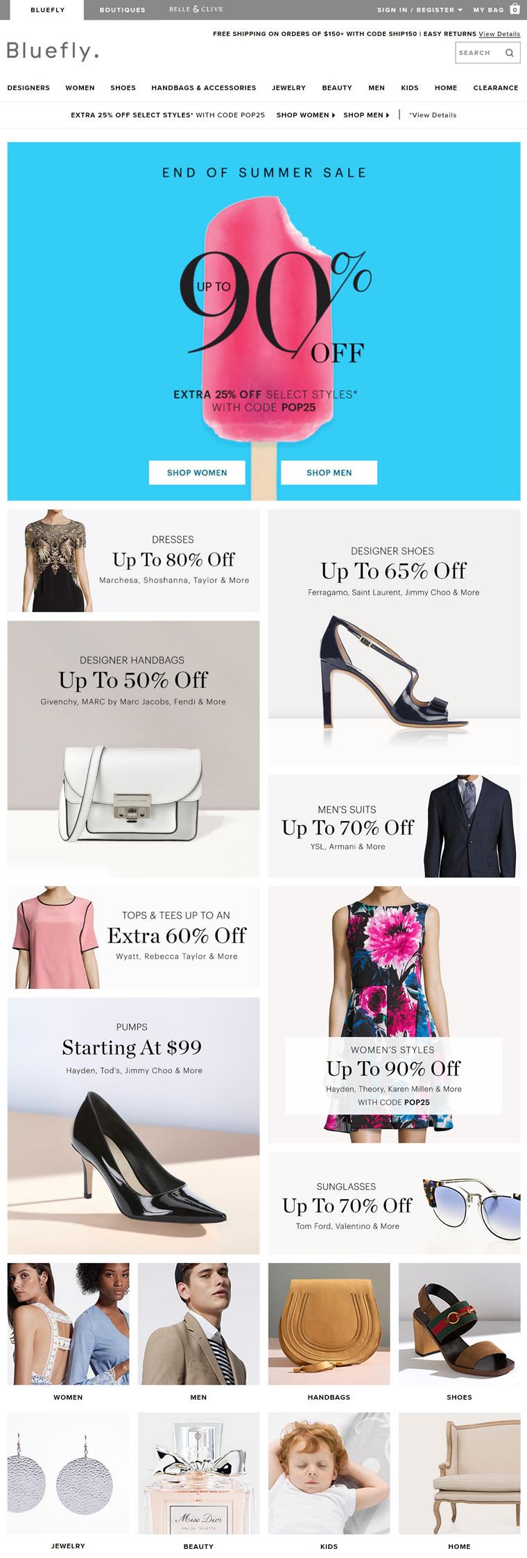 美国顶尖折扣时尚购物网:Bluefly