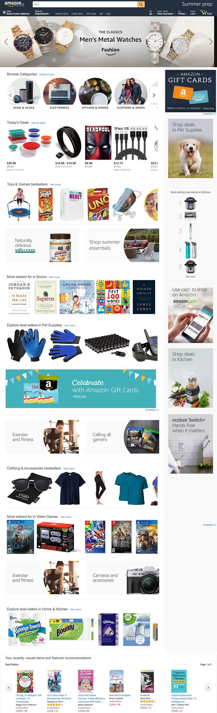 亚马逊加拿大网站:Amazon.ca