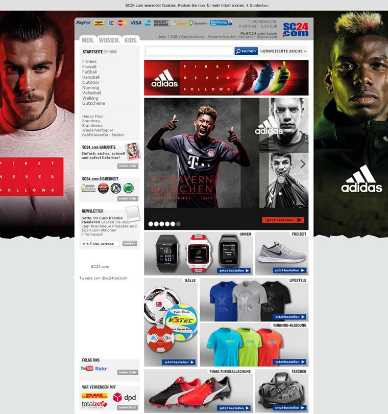 德国体育用品网上商店:SC24.com