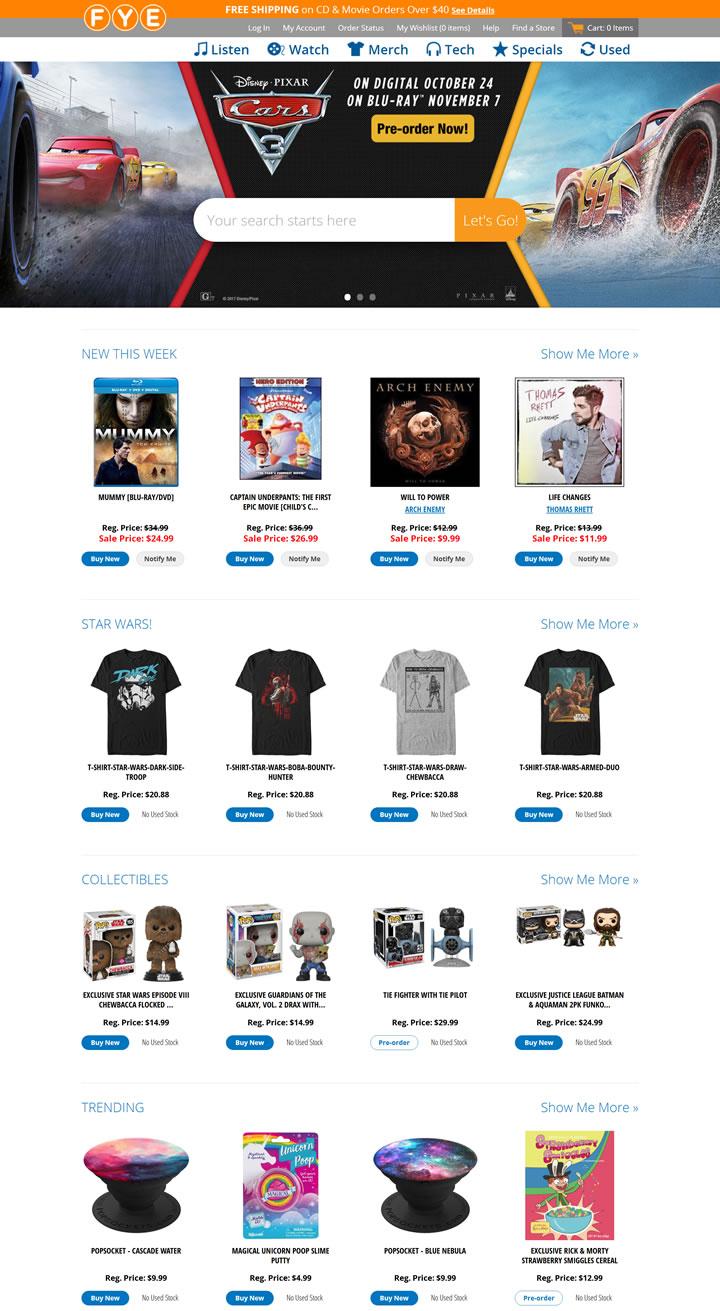 美国娱乐和流行文化商品店:FYE