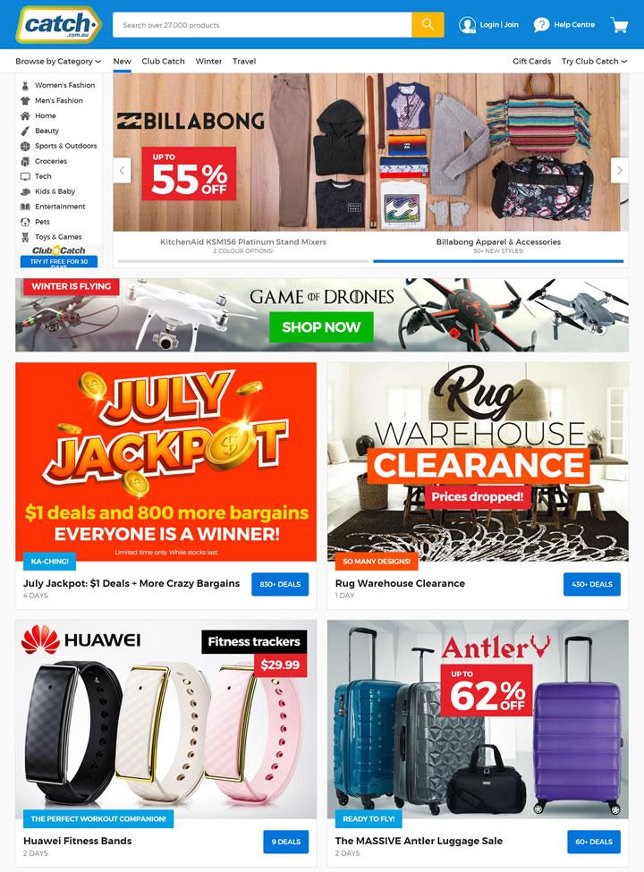 澳大利亚最受欢迎的超级商场每日优惠:Catch