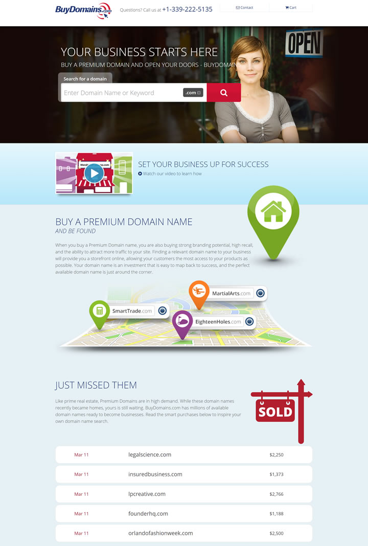 购买一个高级域名:BuyDomains
