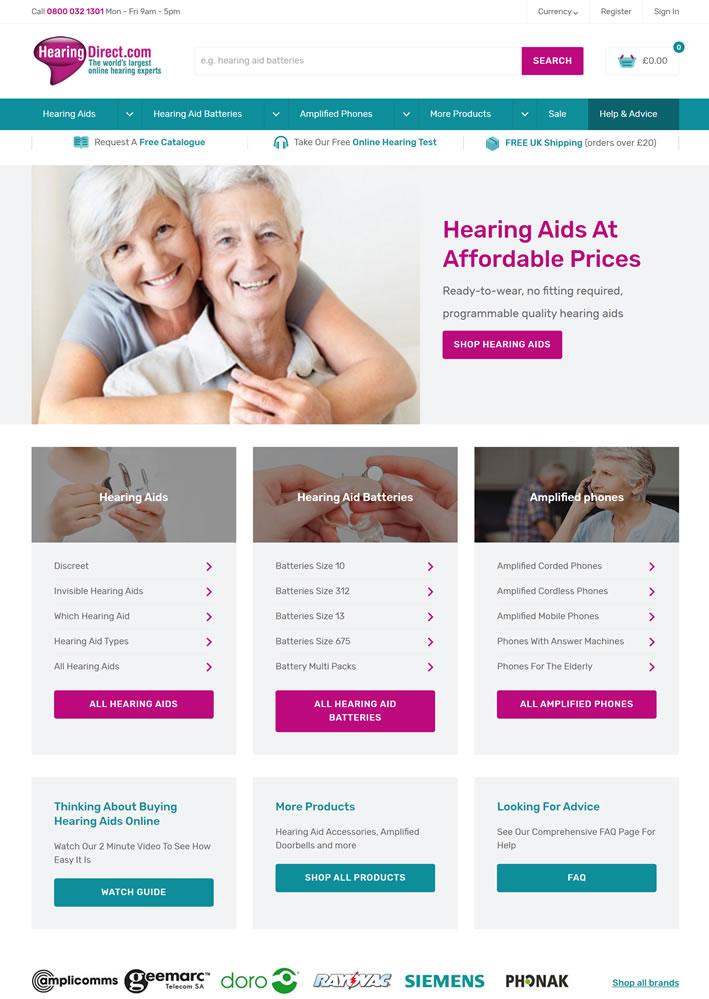 英国助听器购物网站:Hearing Direct
