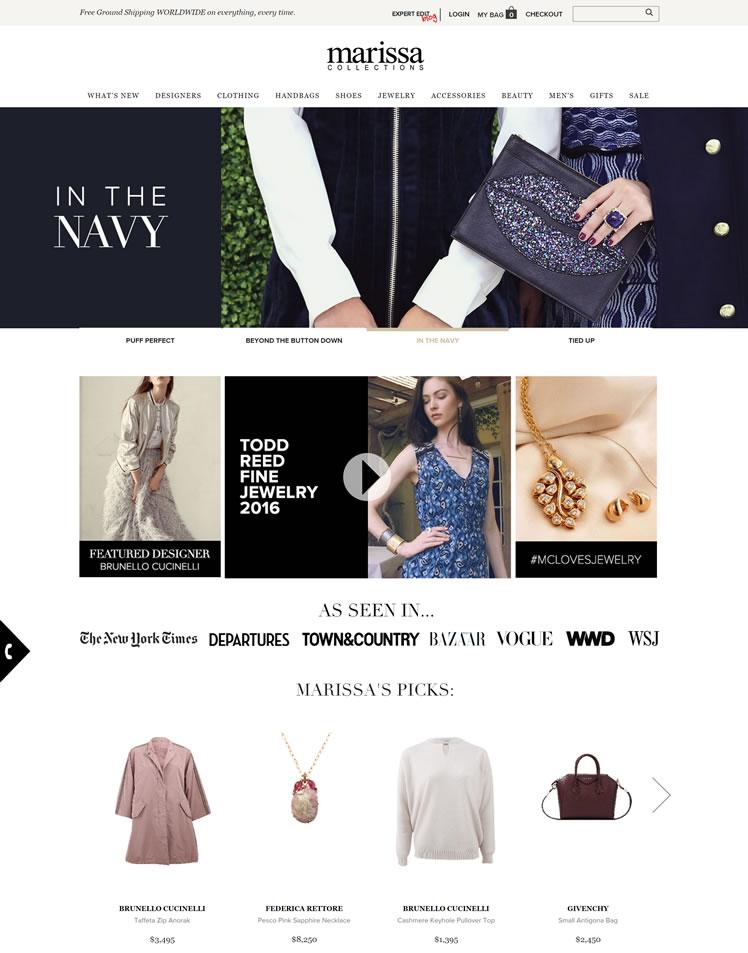 美国玛丽莎收藏奢华时尚商店:Marissa Collections