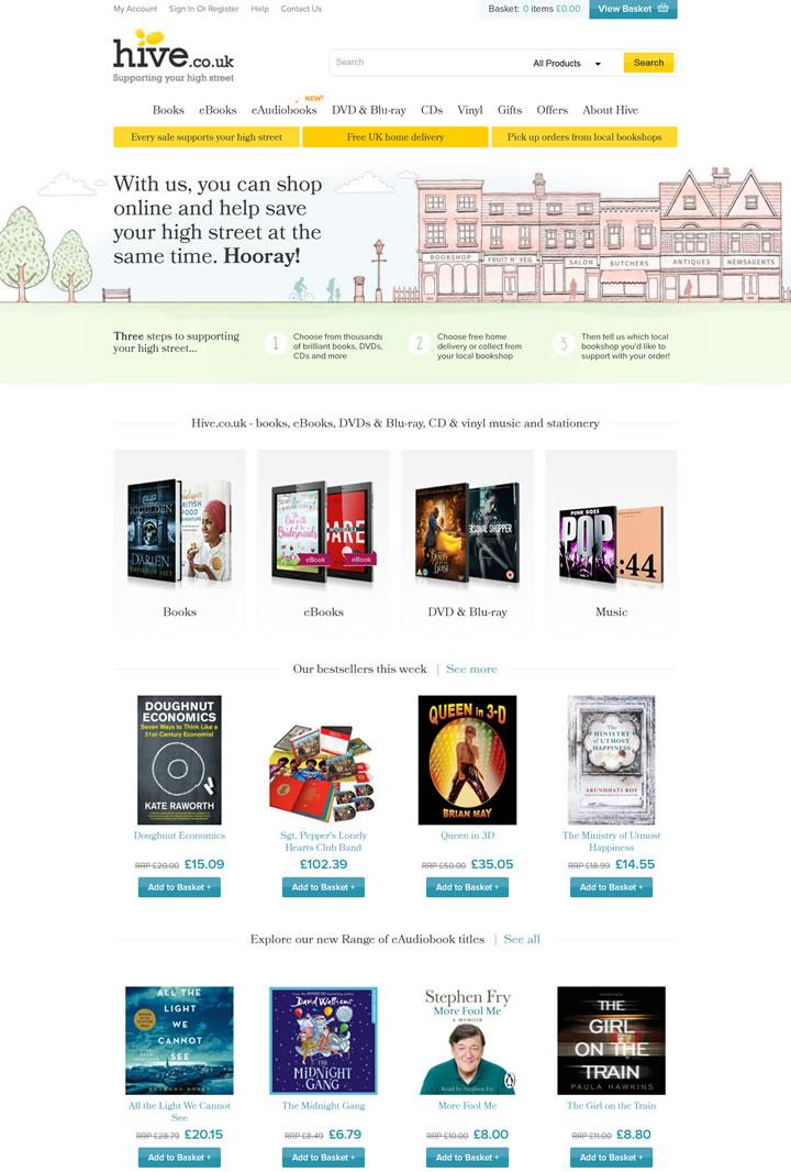 英国图书音像网站:Hive.co.uk(图书、电子书、DVD、蓝光、音乐CD等)