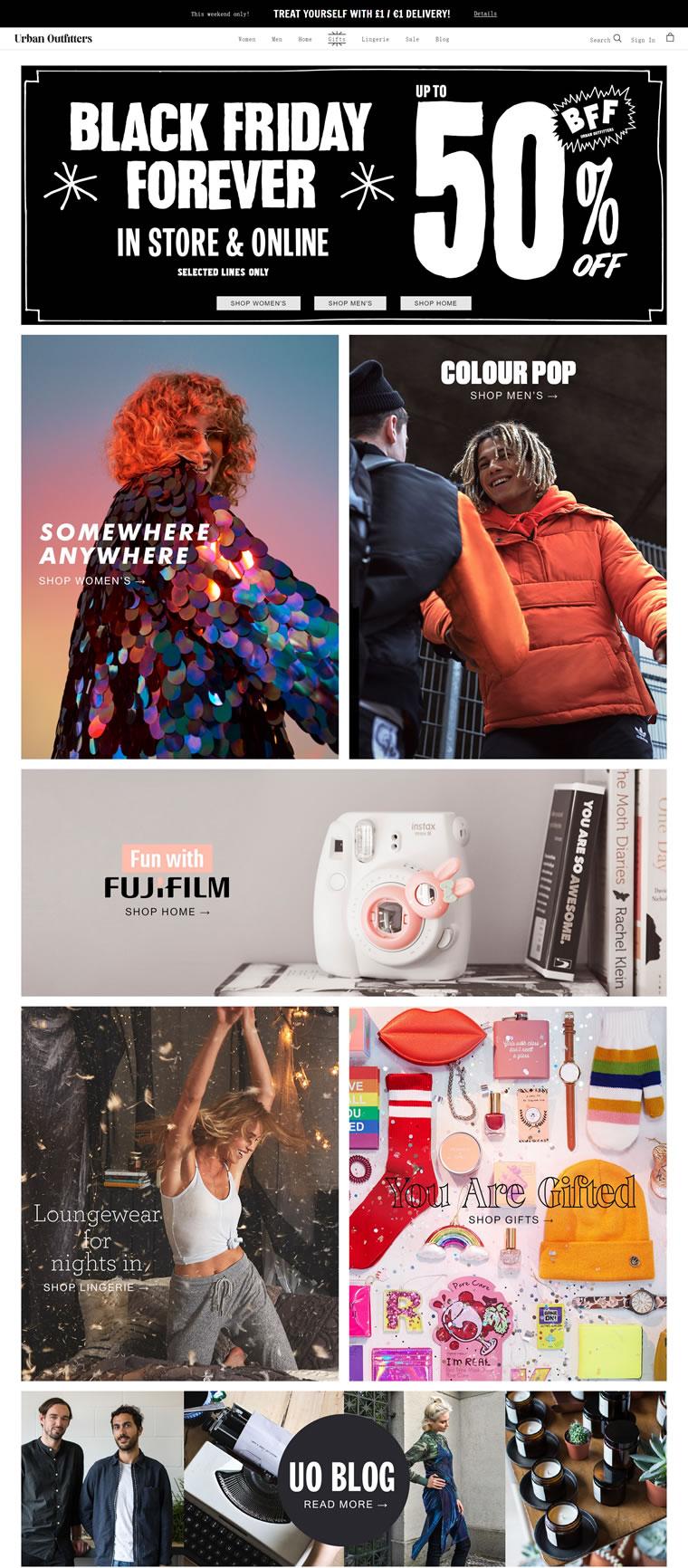 Urban Outfitters英国官网:美国平价服饰品牌