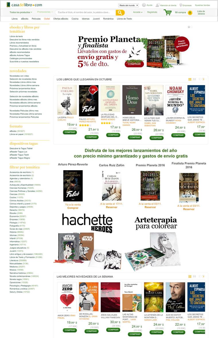 西班牙网上书店:Casa del Libro