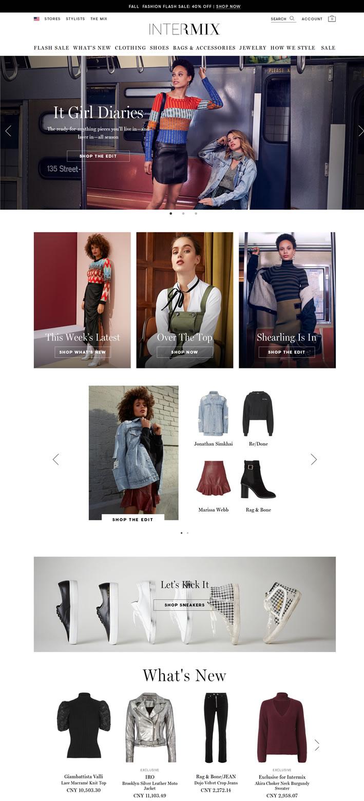 女性奢华品牌精品店:INTERMIX