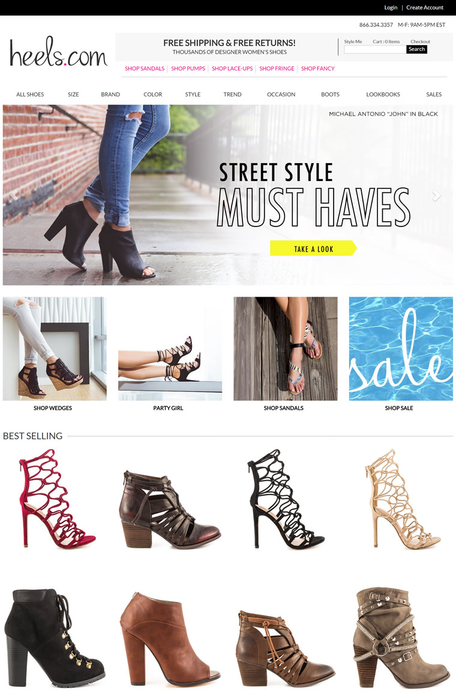 美国在线女鞋零售商:Heels.com