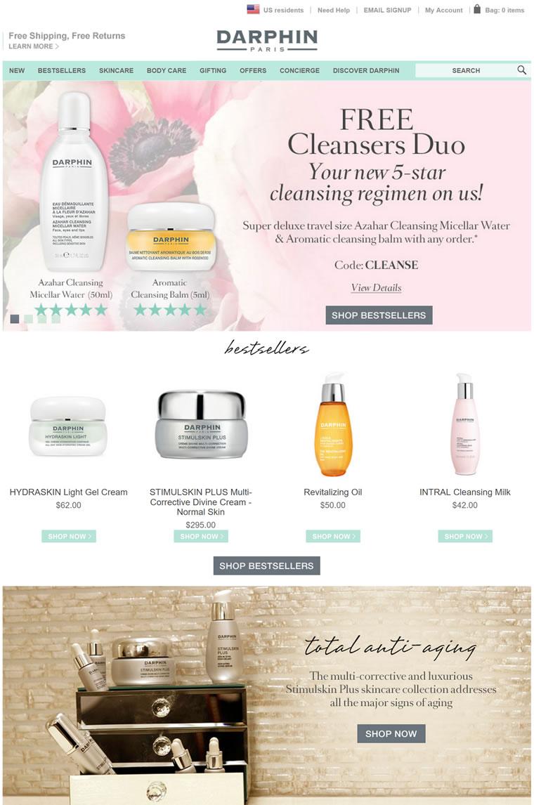 Darphin迪梵官网: 来自巴黎,植物和精油调制的护肤品牌