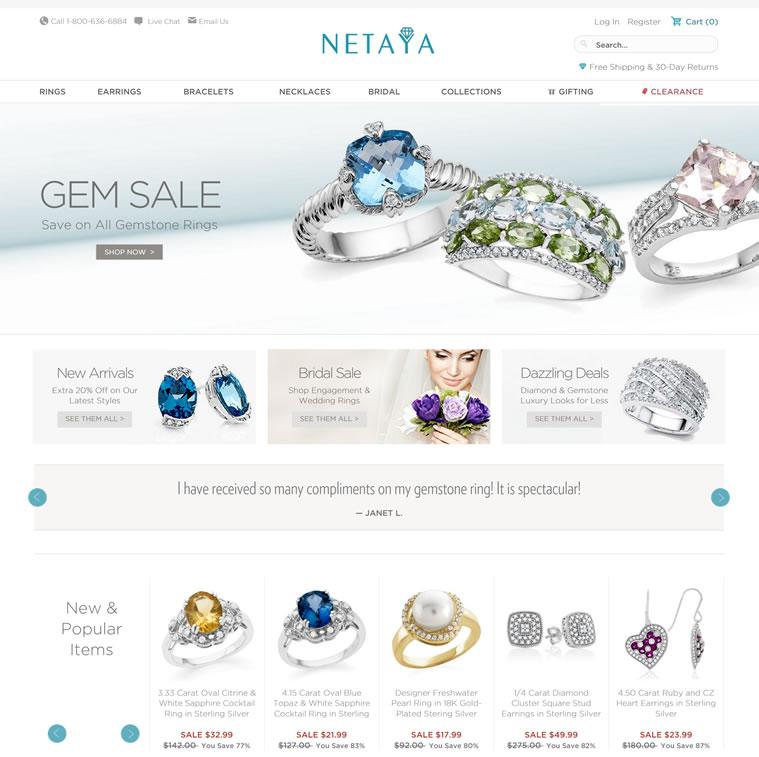 美国著名的品牌珠宝手饰折扣网:Netaya