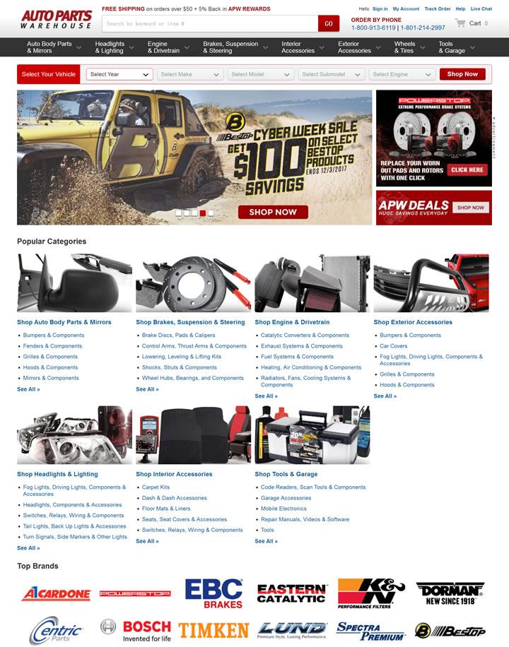 汽车配件仓库:Auto Parts Warehouse