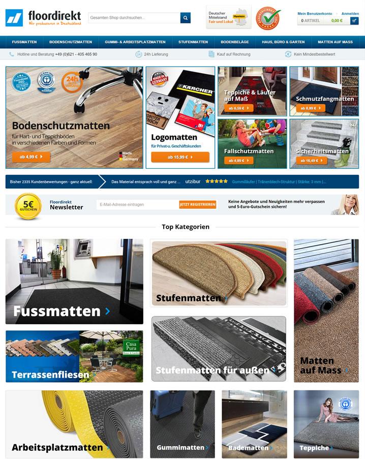 德国垫子和地毯网站:Floordirekt
