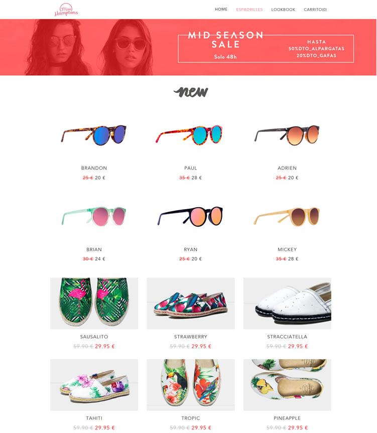 西班牙汉普顿小姐:购买帆布鞋和太阳镜
