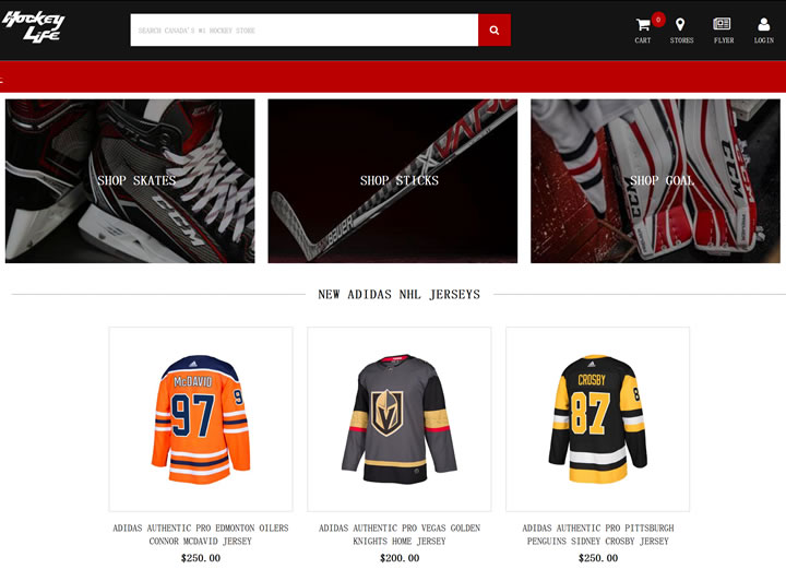 世界上最大的曲棍球商店:Pro Hockey Life