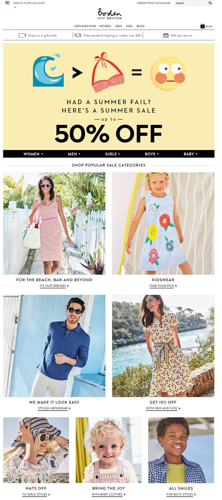 Boden美国官网:英伦原创时装品牌