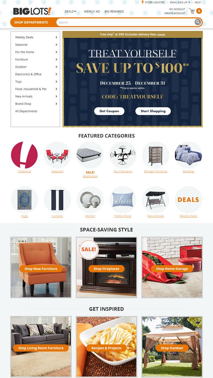 Big Lots官网:家具、庭院、床垫、家居和玩具