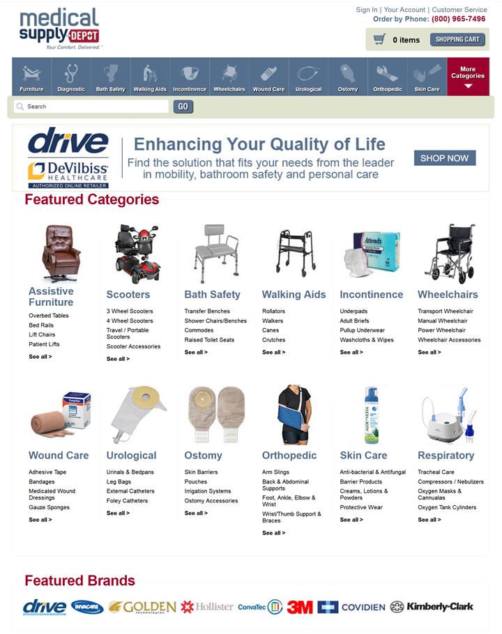 美国医疗用品、医疗设备和家庭保健用品商店:Medical Supply Depot