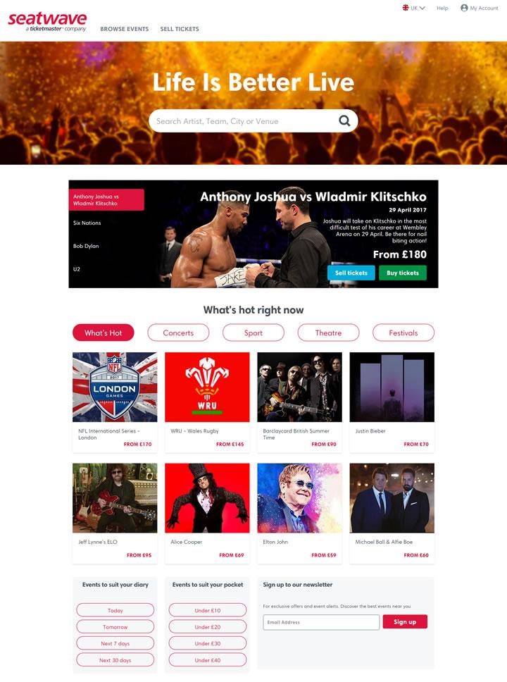 英国票务市场:Seatwave