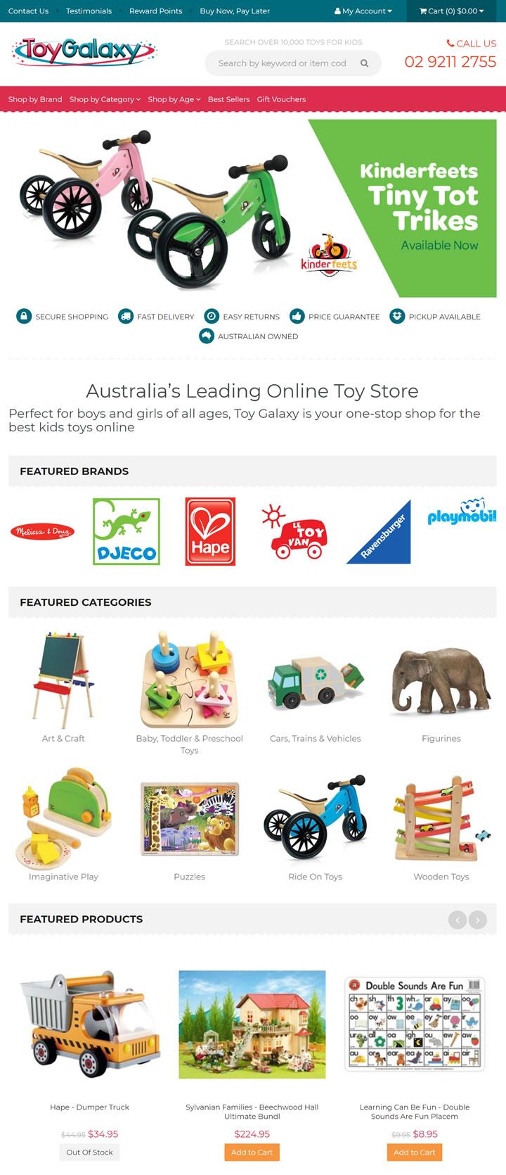 澳大利亚排名第一的儿童在线玩具商店:Toy Galaxy