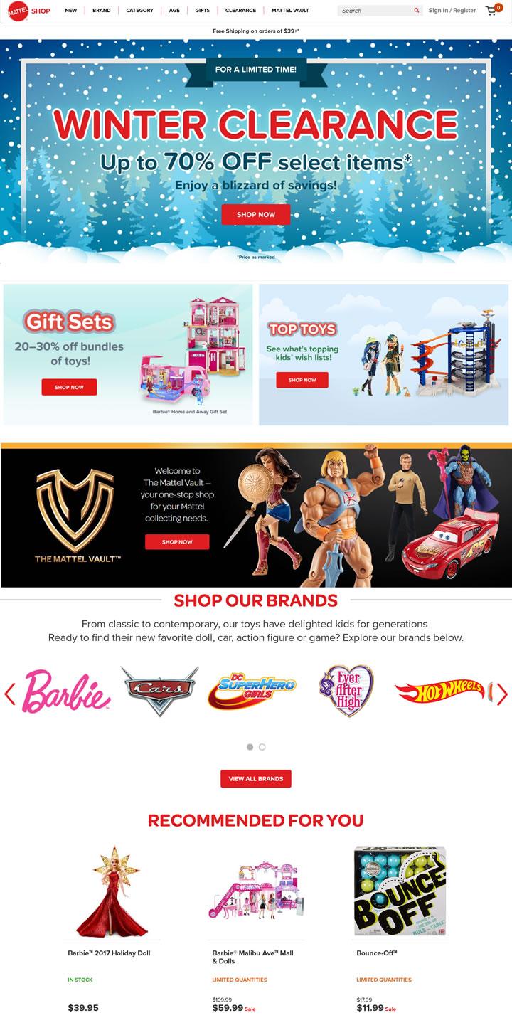 美泰玩具公司官方商店:Mattel Shop