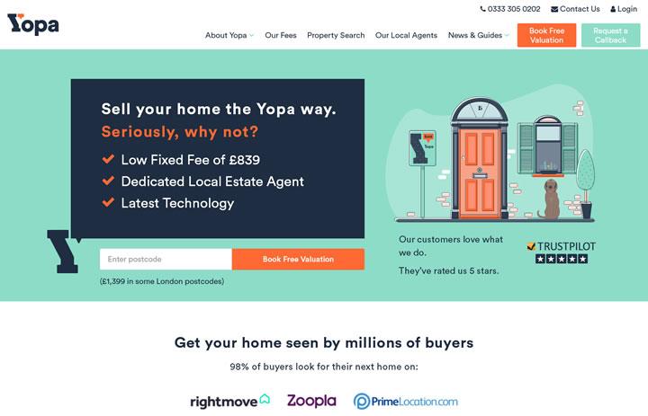 英国在线房屋中介网站:Yopa