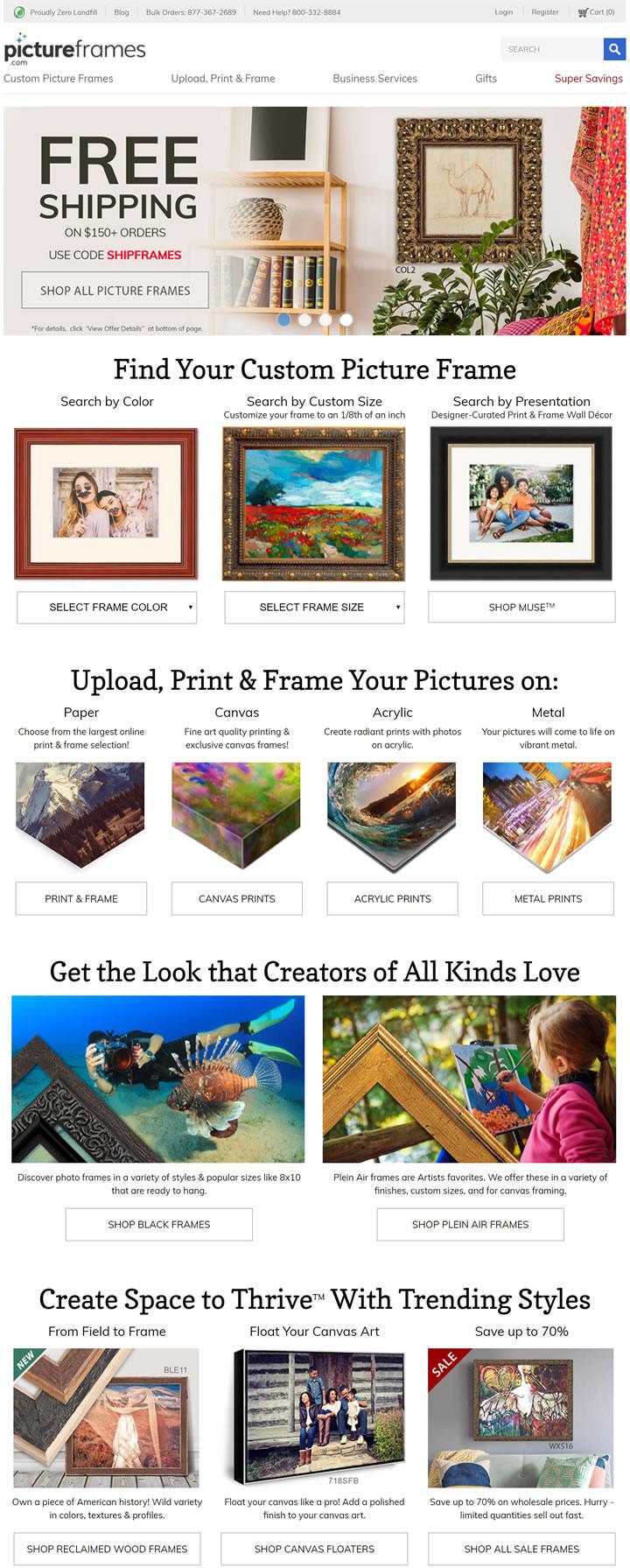 购买美国制造的相框和画框架:Picture Frames