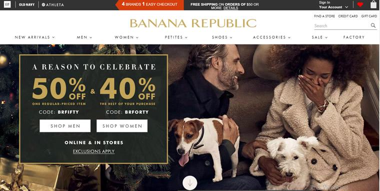 香蕉共和国Banana Republic官网:美国GAP旗下偏贵族风格服饰品牌