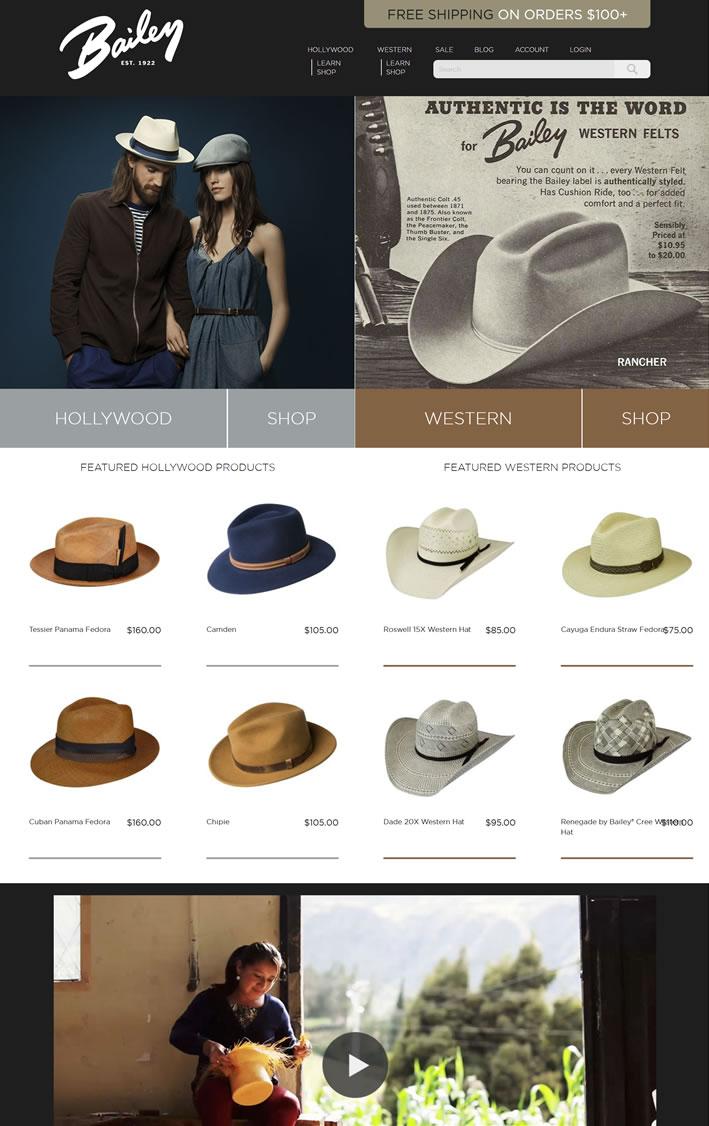 Bailey帽子官方商店:Bailey Hats