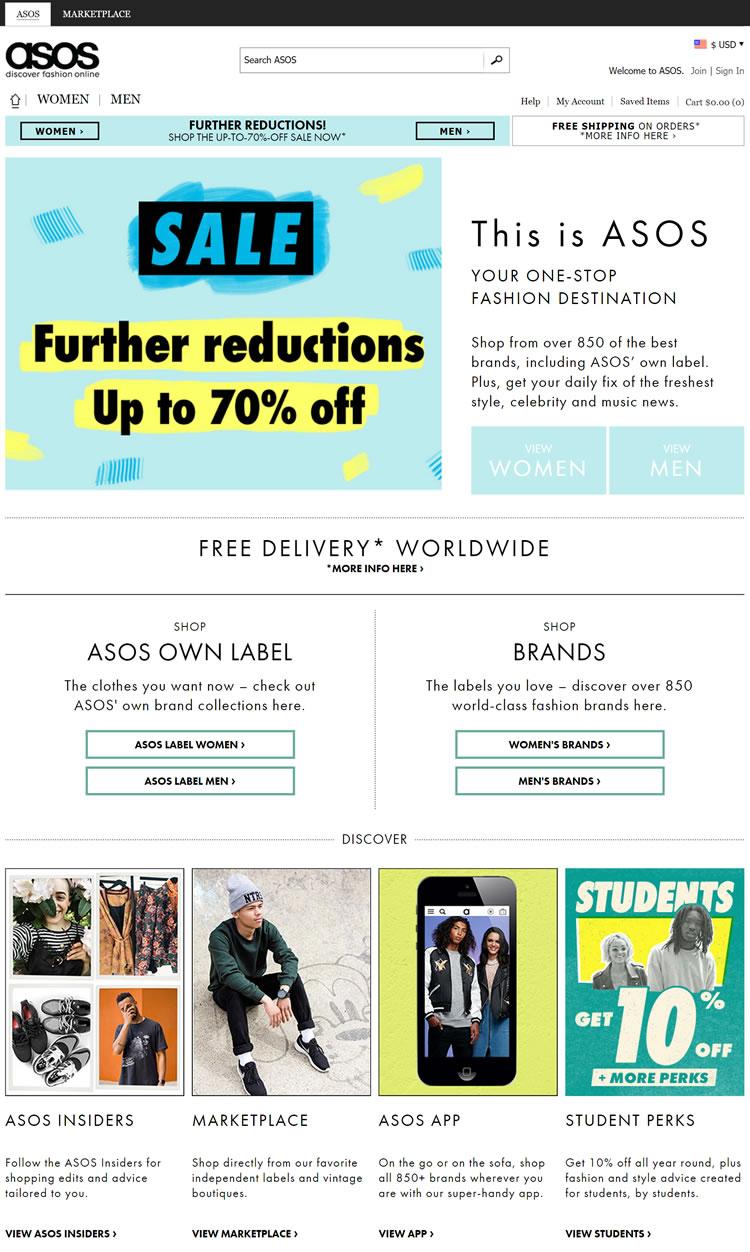 ASOS美国官网:英国最大的独立在线时尚零售商
