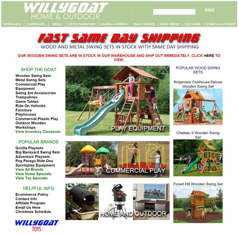 提供户外秋千和游乐设备:WillyGoat