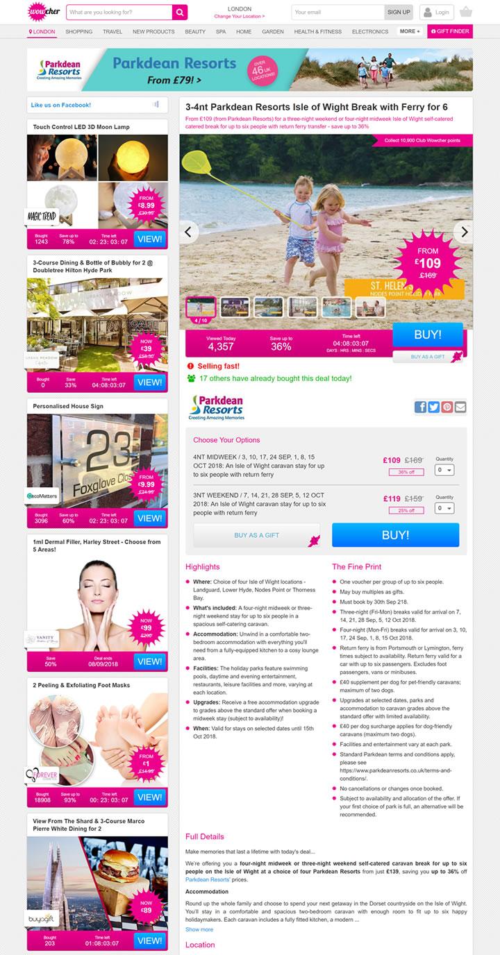 英国日常交易网站:Wowcher