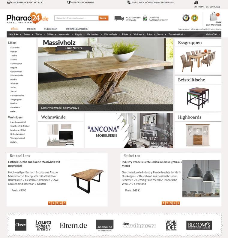 德国大型的家具商店:Pharao24.de