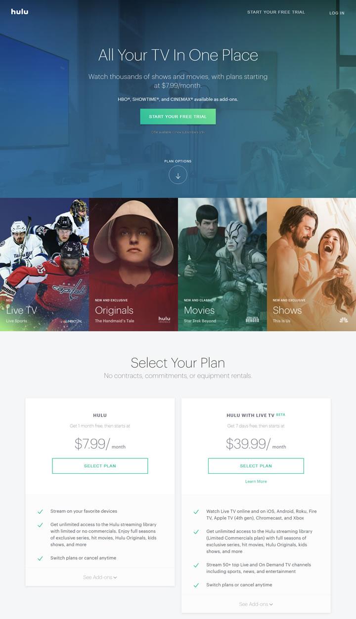 美国正版电视节目和电影在线观看:Hulu