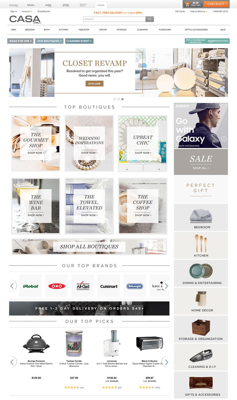美国家居用品在线零售商城:Casa.com