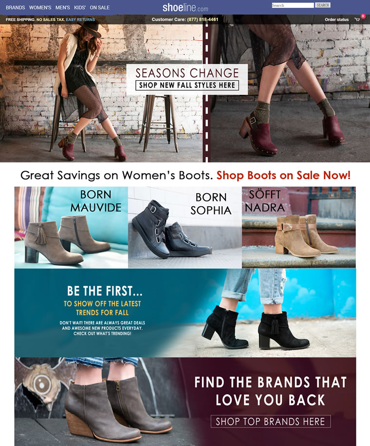 美国网上鞋城:Shoeline.com