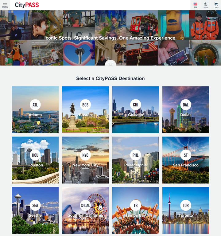 美国大城市最热门旅游景点门票:CityPASS