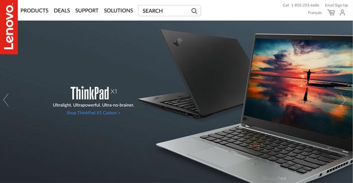 联想加拿大官方网站:Lenovo Canada
