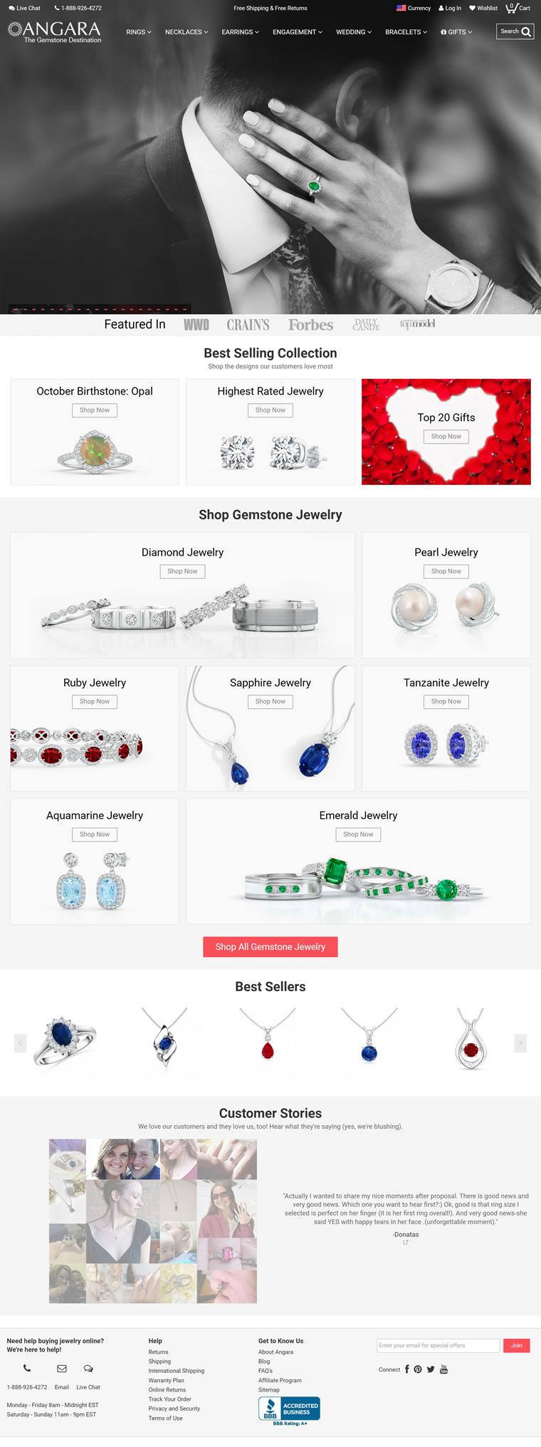 顶级宝石首饰网络零售商:Angara