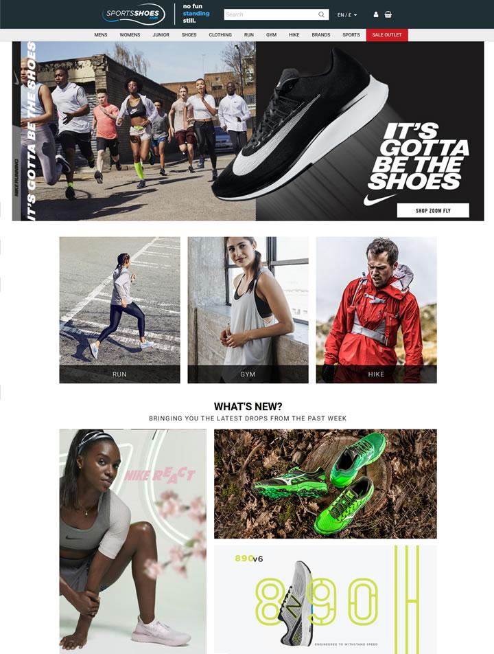欧洲顶级体育电子商务网站:SportsShoes.com